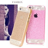 iPhone5s手机壳 苹果5手机壳 5s手机壳水钻 奢华个性保护套薄潮女