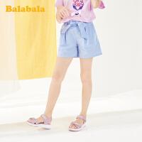 巴拉巴拉女童裤子洋气夏装童装儿童中大童短裤弹力百搭甜美韩版潮