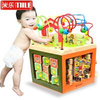大号儿童串珠绕珠10-11个月宝宝开发益智力0-1-2-3岁木制积木玩具