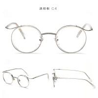 超轻复古配度数平光眼镜框架女个性圆形圆框眼睛男