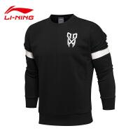 李宁卫衣男士篮球系列套头衫长袖圆领宽松针织运动服AWDL515