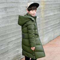 儿童装男童棉衣外套2017新款中大童天12羽绒中长款15岁韩版