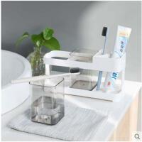 创意居家浴室牙刷架漱口杯卫生间洗漱套装牙具座牙膏置物架