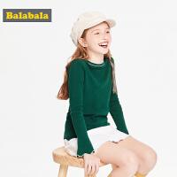 【10.22超品 3折价:47.7】巴拉巴拉童装女童毛衣儿童上衣2019新款秋装中大童针织衫甜美时尚