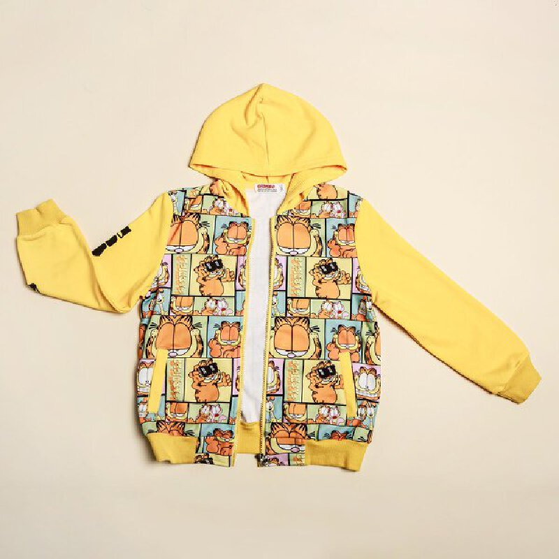 【到手价:57.25元】加菲猫童装男童开衫卫衣GGW17361