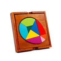 智力儿童拼图玩具2-3-4-5-6岁男女孩早教益智木质七巧板宝宝拼板