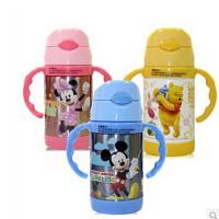 迪士尼米奇吸管保温杯带手柄可爱宝宝学饮杯婴儿童水杯子5671