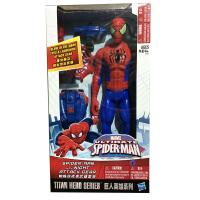 孩之宝 漫威英雄 12英寸蜘蛛侠人偶夜袭武器套装 男孩礼物玩具
