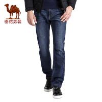 骆驼男装 秋季新款时尚中腰商务休闲青年牛仔裤男士长裤子