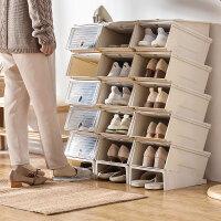 加厚透明鞋盒抽屉式自由组合男女鞋子收纳盒防尘塑料整理箱 26.5x32.5x15.5cm
