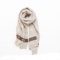 针织围巾女冬季粗毛线时尚韩版可爱百搭日系学生冬天加厚两用少女围脖