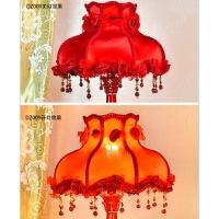 直筒蕾丝床头灯罩客厅阳台酒店床头吊灯台灯布艺灯罩外壳灯具配件