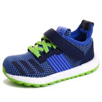 【3折价:179.7元】阿迪达斯(adidas)S80391 童鞋2016年秋季新品男童跑步鞋小童运动休闲鞋 蓝色