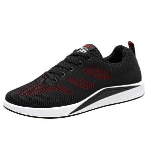 减震运动鞋男轻便网鞋透气防臭飞织跑步鞋气垫慢跑鞋男鞋