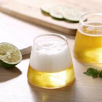 光一玻璃杯子富士山轻奢ins风家用啤酒套装网红简约喝水耐热透明水杯