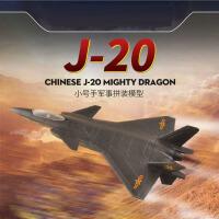 免胶预上色小号手飞机军事模型中国空军歼20威龙隐形战斗机81902