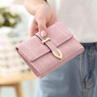 韩钱包女短款时尚简约小钱夹软皮流行多功能钱包品牌钱夹女士