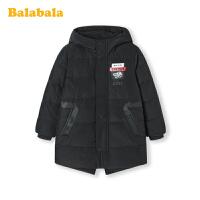 巴拉巴拉儿童羽绒服2019新款加厚上衣中长款男洋气派克服男童外套