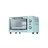 美的家用小烤箱 上下石英管均匀烘焙 12L 多功能迷你烤箱PT12B0 淡雅绿