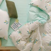 多喜爱新品床上用品三件套全棉纯棉床单森系被套套件轻语1.2米床