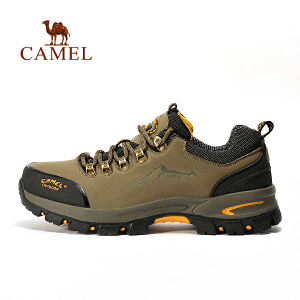 camel骆驼户外徒步鞋 男款防滑耐磨户外鞋 低帮男鞋