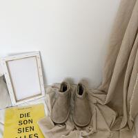 冬季女鞋子2018新款潮雪地靴女短筒学生韩版原宿百搭加绒加厚棉鞋