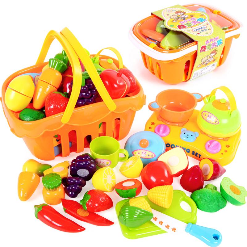 切切乐切水果儿童玩具切切看 过家家塑料 磁性蔬菜套装宝宝