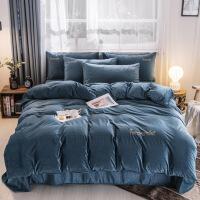 3D立�w荷�m�q�色刺�C四件套保暖冬季床上用品1.5/1.8米