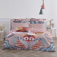 LOVO家纺 60支澳洲棉四件套全棉贡缎被套床单高支高密床上用品纯棉 玉牛出喜