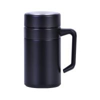 304不锈钢保温杯泡茶办公水杯带手柄茶漏男女士商务礼品定制LOGO 500ml