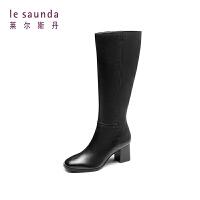 莱尔斯丹 秋冬商场同款欧美时尚潮流骑士靴高筒靴 7T61202