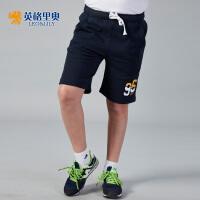 【两件1.3折价:28.6元】英格里奥夏装新款男童休闲短裤纯棉运动五分裤针织休闲裤LLB577