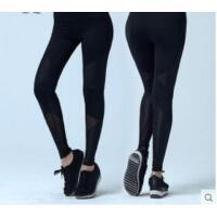 瑜伽运动裤健身裤女拼网纱性感空中瑜伽裤弹力紧身提臀裤子