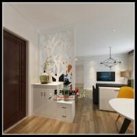 烤漆门厅柜烤漆玄关柜隔断柜屏风现代简约组合鞋柜镂空装饰柜定制 组装