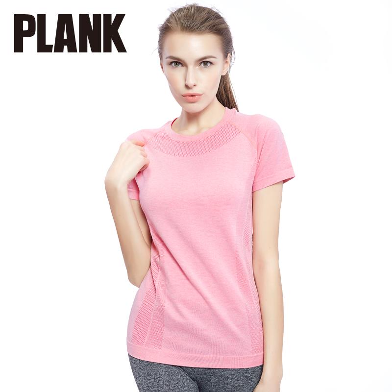 比瘦PLANK 无缝运动短袖T恤 段染短袖跑步瑜伽健身服 女透气速干 PK009比瘦-专注于健康塑身14年