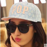 嘻哈平沿帽 女网红同款时尚韩版潮蕾丝女士棒球帽 女防晒遮阳鸭舌帽 韩国户外运动新品
