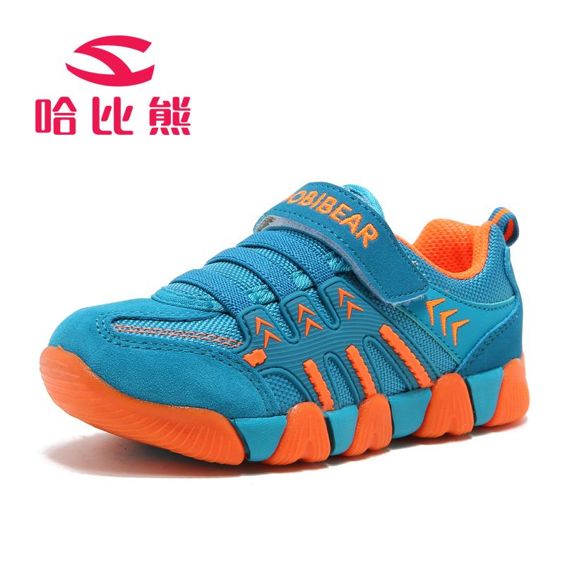 哈比熊童鞋男童春秋款女童鞋子女大童儿童运动鞋轻便休闲鞋跑步鞋