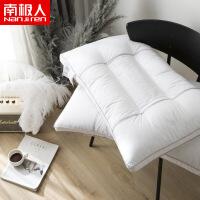 棉绗缝低枕头芯颈椎枕羽丝绒枕芯保健枕护颈枕48*74cm