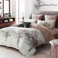 新婚床上用品全棉加厚磨毛四件套1.8m床笠大红纯棉结婚庆套件定制 2.0m (6.6英尺)床