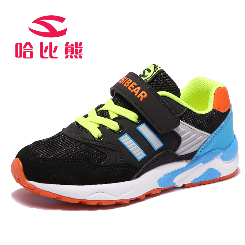 哈比熊儿童棉鞋新款春秋季童鞋二棉鞋儿童运动鞋潮男童跑鞋