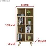 北欧定制书架书柜组合简约现代日式书房储物柜彩色书橱