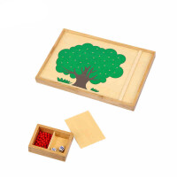 早教玩具蒙台梭利数学教育益智苹果树盘式苹果树玩具