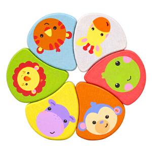 【当当自营】费雪 Fisher Price 费雪 小小彩虹串珠玩具 儿童益智木制积木玩具 FP2001