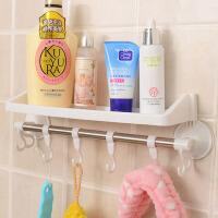 带挂钩强力吸盘置物架/卫生间用品挂钩 浴室毛巾架 吸盘收纳架--颜色随机