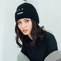 时尚毛线帽子女秋冬季韩版潮百搭学生针织帽加厚情侣保暖日系青年冬天