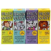 Brain Quest 2-6岁大脑任务 智力开发卡片书4盒套 低幼系列学前小学生全科练习