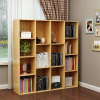 简约五格承重书架创意书柜格子柜木质小柜子储物柜简易收纳组合柜 其他不带