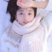 同款韩版毛线围巾女冬季软妹学生百搭男女士围脖长款加厚 米色 沈月同款