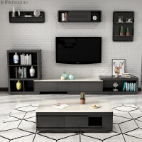 北欧大理石茶几现代简约小户型客厅茶几电视柜组合实木家具套装 整装