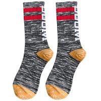 时尚长袜男潮牌袜子男士纯棉街头欧美嘻哈潮中筒冬季加厚篮球袜运动袜